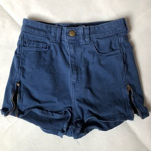 American Apparel High Waisted Navy Blue Shorts